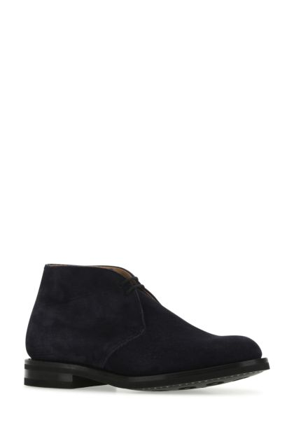 Midnight blue suede Desert lace-up shoes