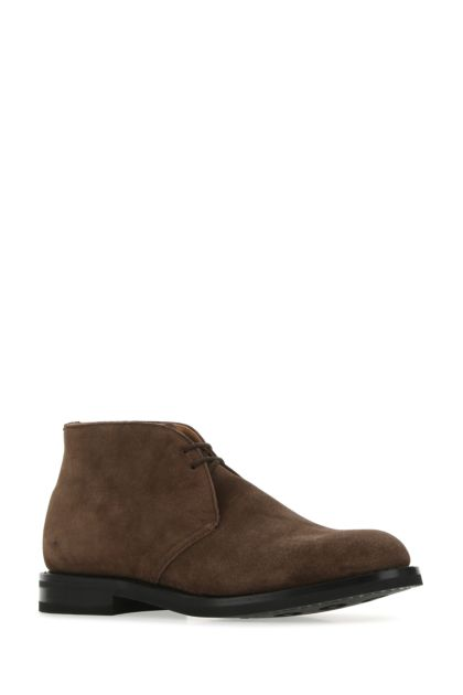 Brown suede Ryder 3 lace-up shoes