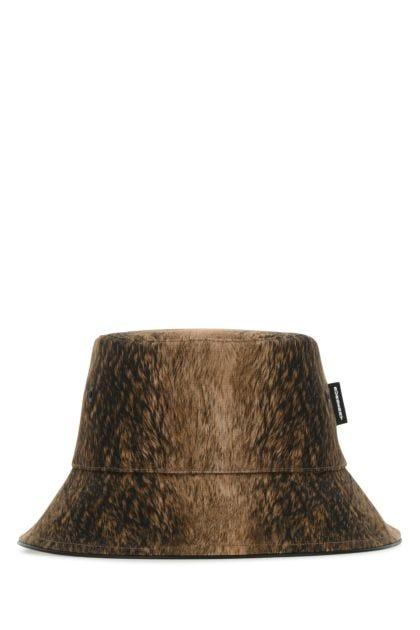 Printed canvas bucket hat