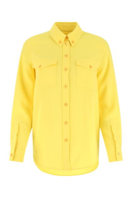 Yellow polyester shirt