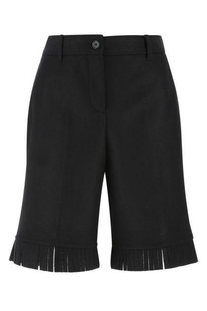 Midnight blue wool bermuda shorts