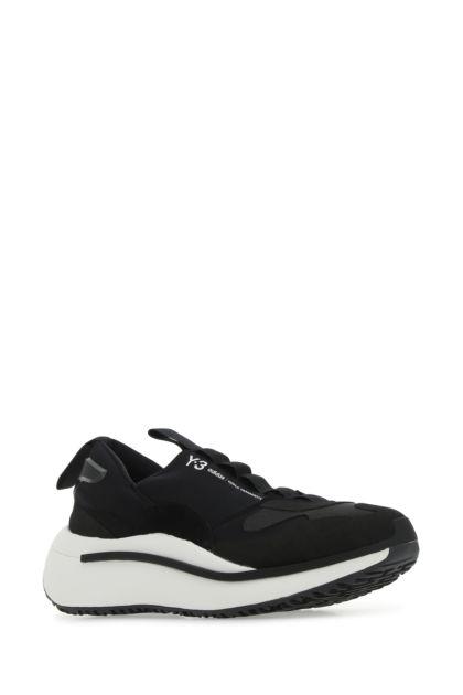 Black fabric Qisan Cozy sneakers