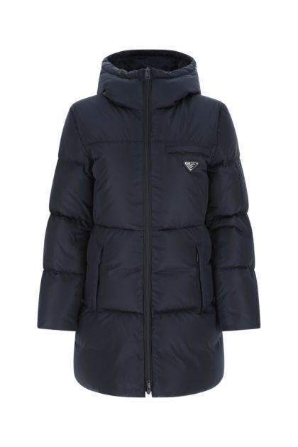 Midnight blue Re-nylon down jacket