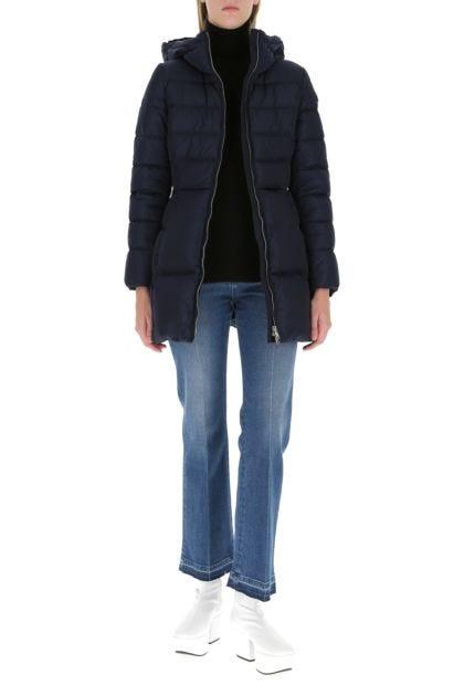 Navy blue Re-nylon down jacket