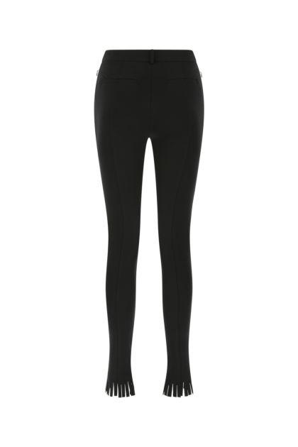 Black stretch viscose blend pant