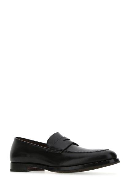Black leather Garwood loafers