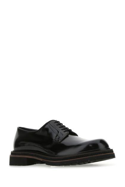 Black leather Milton lace-up shoes