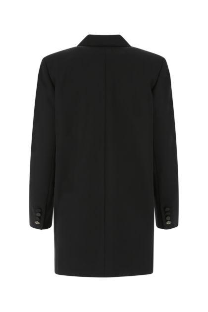 Black stretch wool Franz blazer