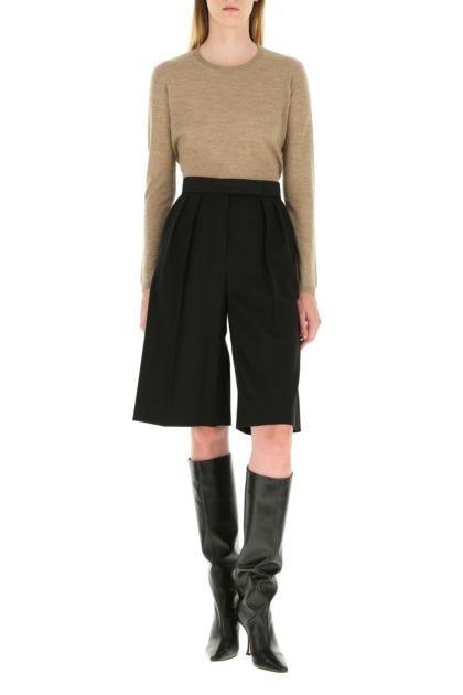 Black wool blend Etere bermuda shorts