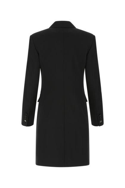 Black stretch wool Petali blazer dress