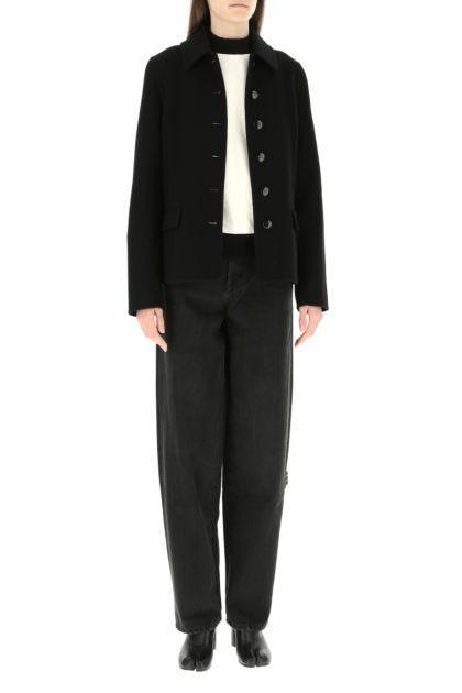 Black wool blend blazer