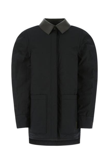 Black cotton padded jacket