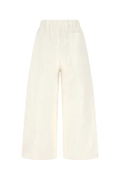 Ivory nappa leather pant