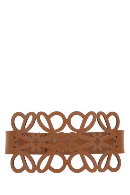 Caramel leather Anagram belt