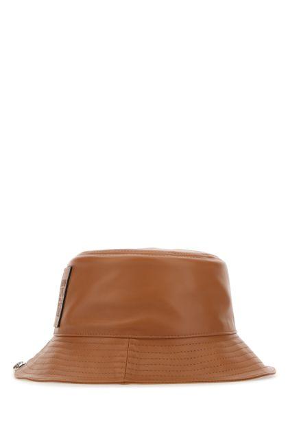 Caramel nappa leather hat