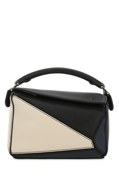 Two-tone leather mini Puzzle handbag
