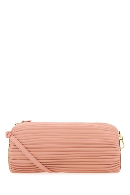 Pink nappa leather clutch