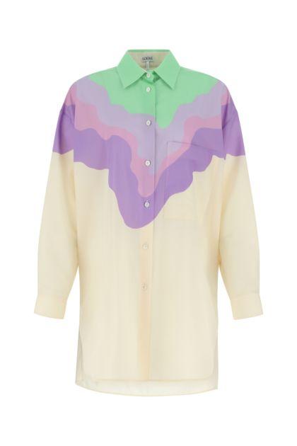 Multicolor wool shirt