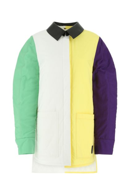 Two-tone cotton blend padded jacket