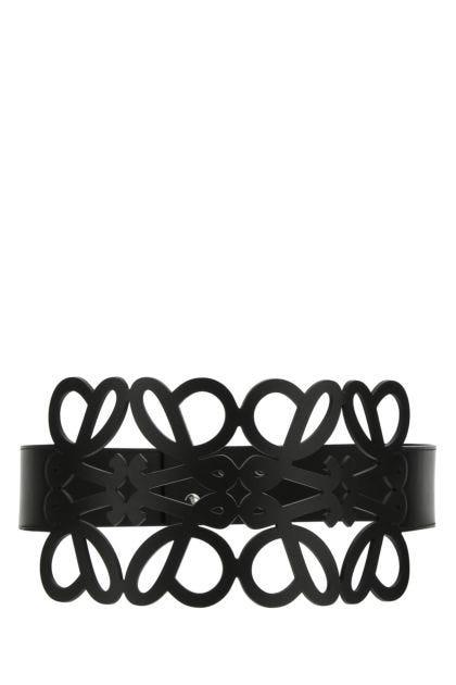 Black leather Anagram belt