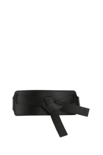 Black leather Gate belt