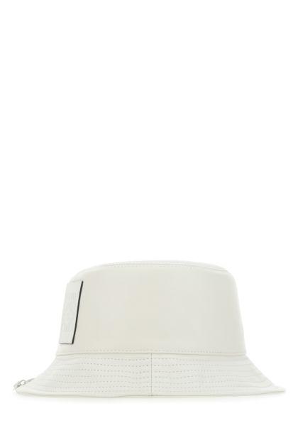 Chalk nappa leather hat