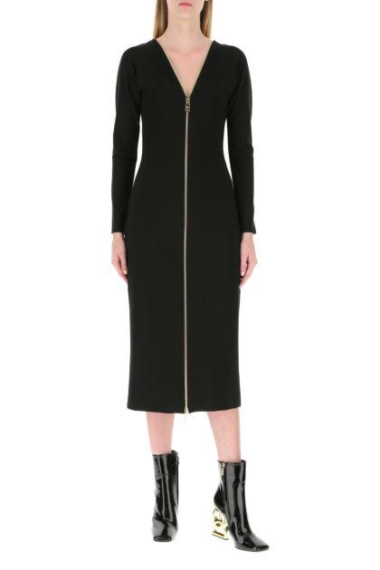 Black stretch viscose blend dress