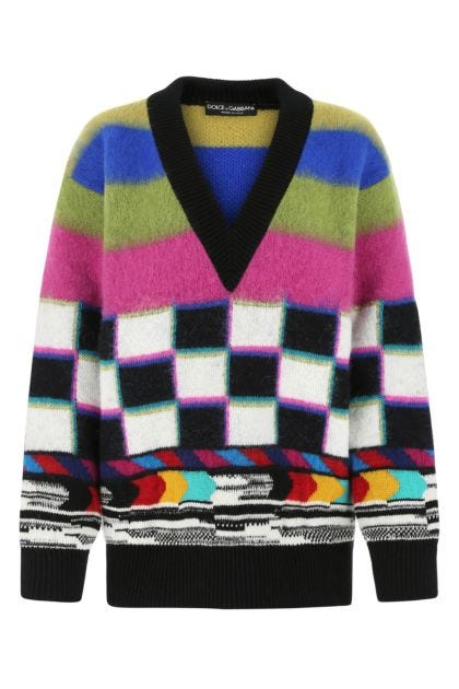 Printed nylon sweatshirt