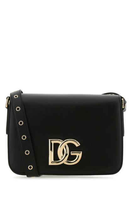 Black leather 3.5 shoulder bag