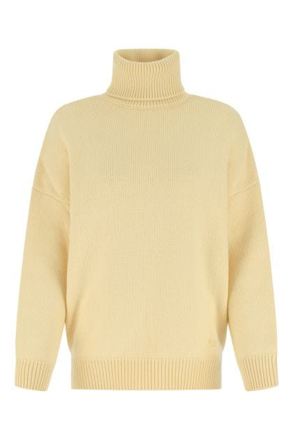 Cream wool blend oversize sweater