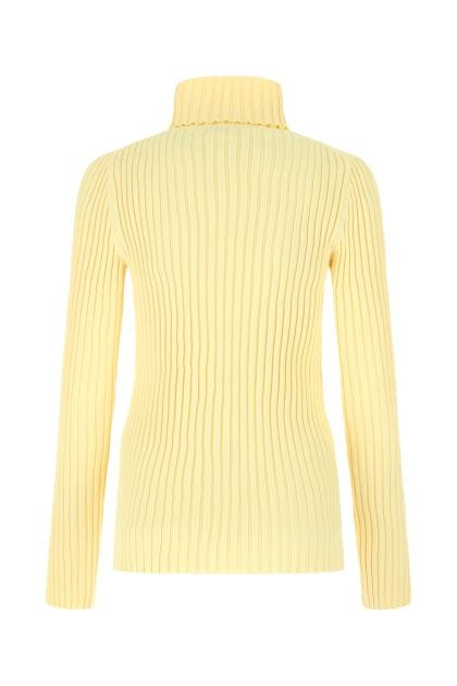 Pastel yellow stretch polyester blend top