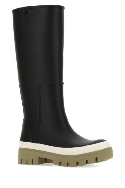 Black rubber Hurricane boots