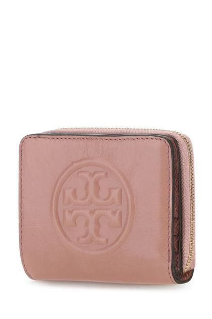 Antiqued pink leather Perry Bombé wallet