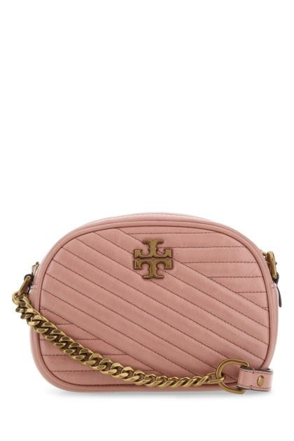 Antiqued pink leather Kira crossbody bag