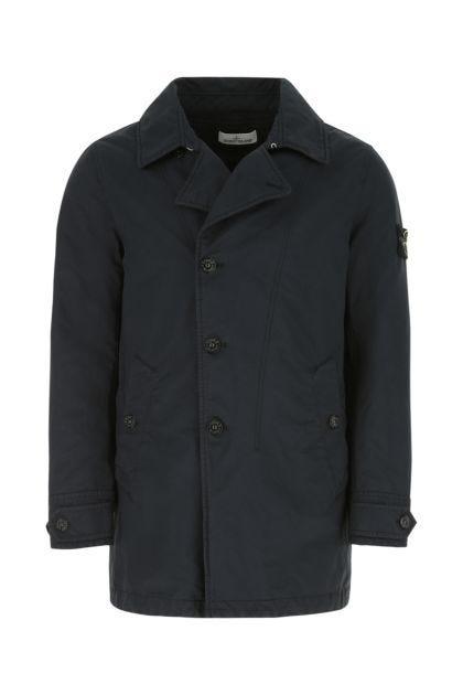 Navy blue polyester blend padded jacket