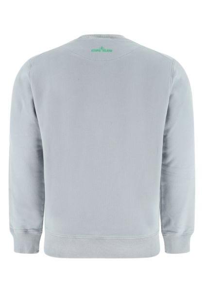 Powder blue cotton sweatshirt