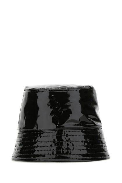 Black vinyl hat