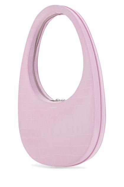 Pastel pink leather Swipe shoulder bag