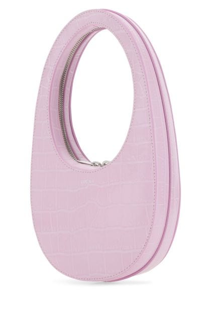 Pastel pink leather mini Swipe handbag