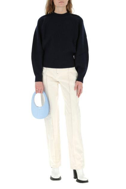 Pastel light-blue leather Swipe handbag