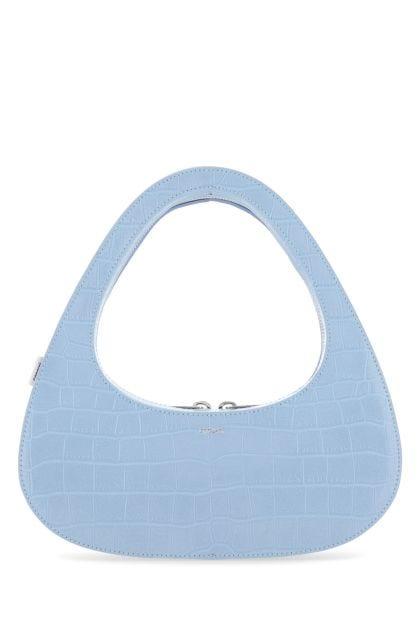 Pastel light blue leather Swipe handbag