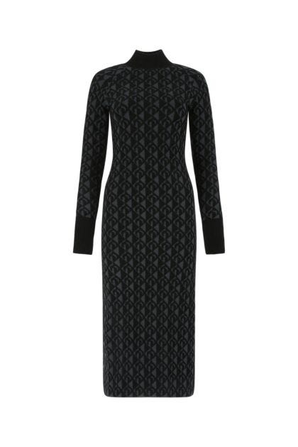 Embroidered viscose blend dress