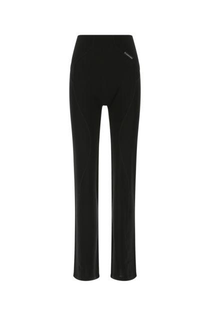 Black stretch viscose palazzo pant