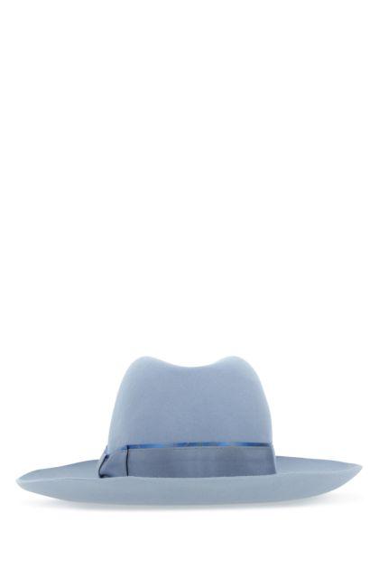 Light blue felt hat