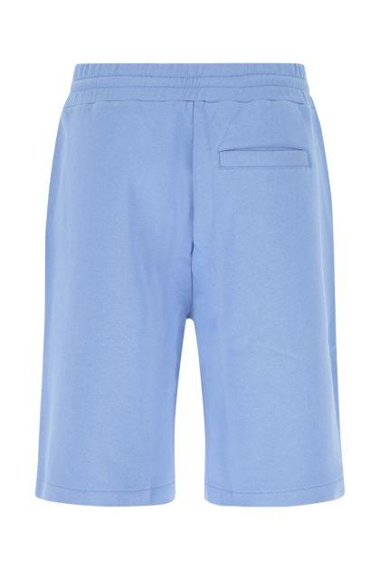 Light blue cotton bermuda shorts