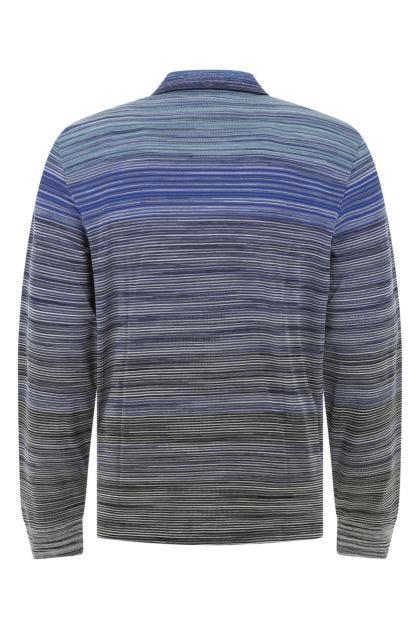 Embroidered cotton polo shirt