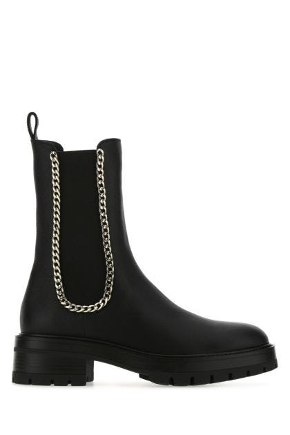 Black leather Mason boots