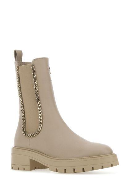 Cappuccino leather Mason boots