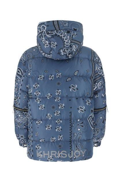 Printed polyester Parka Bandana down jacket