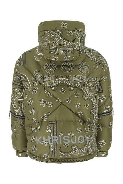 Printed polyester Khrisman Bandana down jacket